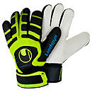 Uhlsport Cerberus Soft Goalkeeper Glove  Black with Fluorescent Yellow and Cyan
