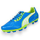 Puma v5.11 I FG  Dresden Blue with White and Lime Punch