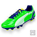 Puma Youth evoSPEED 5 FG Soccer Cleats  Jasmine Green with White