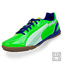 Puma Youth evoSPEED 5 IT Indoor Soccer Shoes  Jasmine Green with White