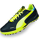 Puma evoSPEED 4.2 Turf Soccer Shoes  Black with Fluo Yellow