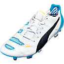 Puma evoPOWER 1.2 FG Soccer Cleats - White and Black