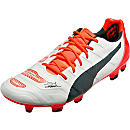 Puma evoPOWER 1.2 FG Soccer Cleats - White and Total Eclipse