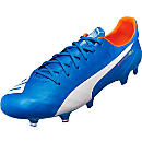 Puma evoSPEED SL FG Soccer Cleats - Electric Blue Lemonade