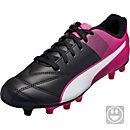 Puma Kids Adreno II FG Soccer Cleats - Black & Pink Glow