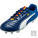 Puma Kids Cesc 4 AG Soccer Cleats - Blue and White