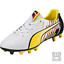 Puma Kids Reus V2 FG Soccer Cleats - White & Blazing Yellow