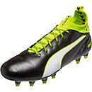 Puma evoTOUCH 1 FG Soccer Cleats - Black & Safety Yellow