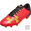 Under Armour Kids Spotlight DL FG - Rocket Red & Hi-Vis Yellow