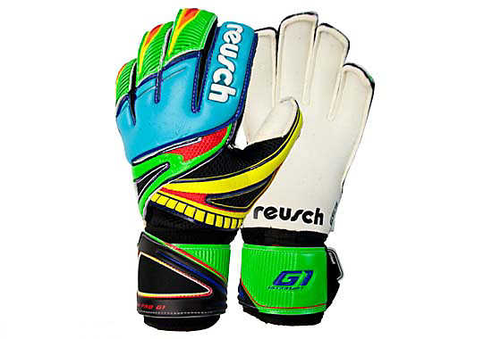 Reusch XOSA Pro G1  Aqua with Flash Green