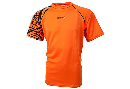 Reusch Lakota Short Sleeve Goalkeeper Jersey  Orange with Black