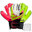 Reusch Argos Pro SG OrthoTec Goalkeeper Gloves  Lime Punch with Pink