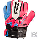 Reusch Youth Waorani Pro S1 OrthoTec Goalkeeper Gloves  Pink and Ocean Blue