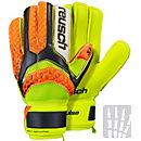 Reusch Pulse S1 Finger Support Goalkeeper Gloves - Black & Safety Yellow
