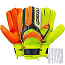 Reusch Pulse S1 Finger Support Goalkeeper Gloves - Black & Safety Yellow