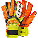 Reusch Pulse Deluxe G2 Goalkeeper Gloves - Black & Shocking Orange