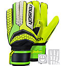 Reusch Kids Pulse Prime S1 Finger Support Goalkeeper Gloves - Black & Shocking Orange