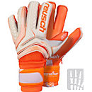 Reusch Serathor Pro G2 Evolution Ortho-Tec Goalkeeper Gloves - White & Shocking Orange
