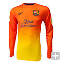 Nike Barcelona Long Sleeve Away Jersey 2012-2013