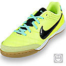 Nike Youth Tiempo Natural IV Leather Indoor Soccer Shoes  Volt