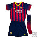 Nike Lil Boys Barcelona Home Kit 2013-2014