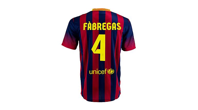 Nike Barcelona Fabregas Home Jersey 2013-2014