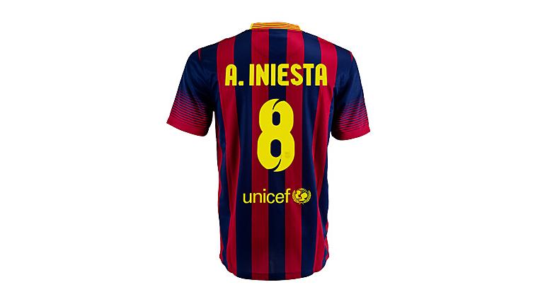 Nike Barcelona Iniesta Home Jersey 2013-2014