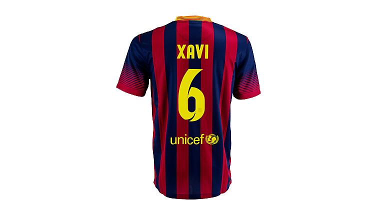 Nike Barcelona Xavi Home Jersey 2013-2014