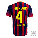 Nike Youth Barcelona Fabregas Home Jersey 2013-2014