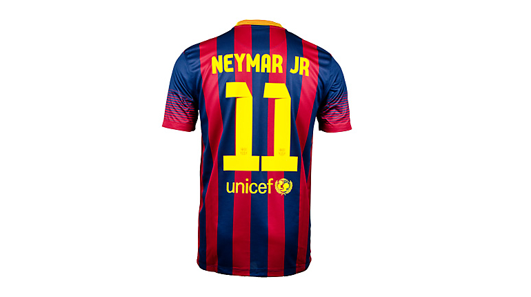 Nike Barcelona Neymar Home Jersey 2013-2014