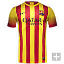 Nike Youth Barcelona David Villa Away Jersey 2013-2014