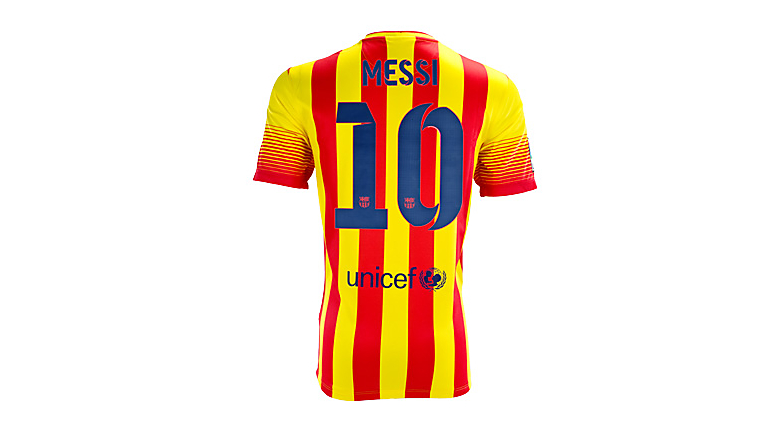 Nike Youth Barcelona Messi Away Jersey 2013-2014