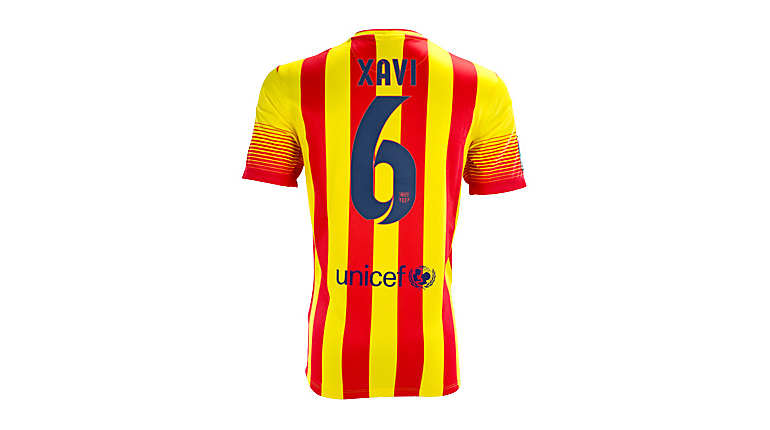 Nike Barcelona Xavi Away Jersey 2013-2014