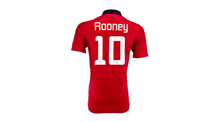 Nike Manchester United Rooney Champions League Home Jersey 2013-2014