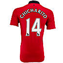Nike Manchester United Chicharito Home Jersey 2013-2014
