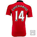 Nike Youth Manchester United Chicharito Home Jersey 2013-2014