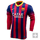 Nike Barcelona Long Sleeve Home Jersey 2013-2014