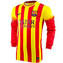 Nike Barcelona Long Sleeve Away Jersey 2013-2014