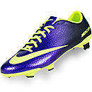 Nike Mercurial Veloce FG Soccer Cleats  Electro Purple with Volt