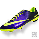 Nike Youth Mercurial Vapor IX FG Soccer Cleats  Electro Purple and Volt