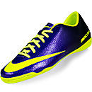 Nike Mercurial Victory IV Indoor Soccer Shoes Electro Purple and Volt