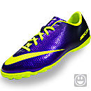 Nike Youth Mercurial Victory IV Turf Shoe  Electro Purple with Volt