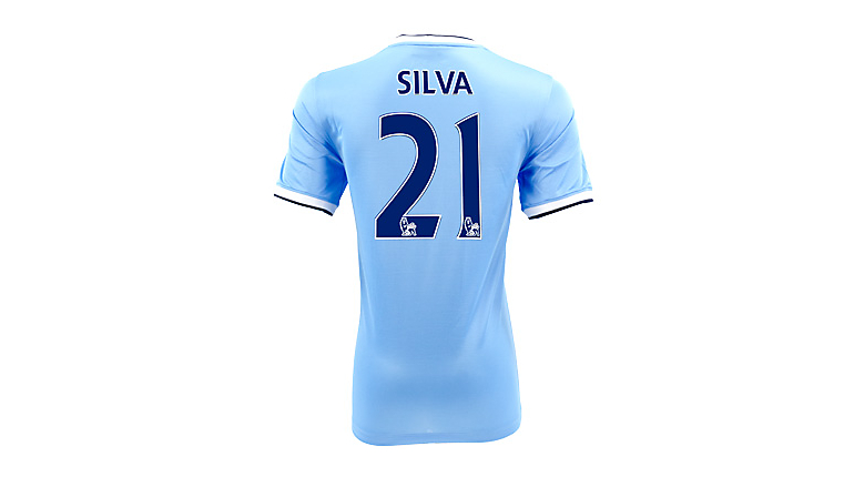 Nike Youth Manchester City Silva Home Jersey 2013-2014