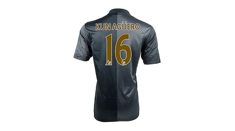 Nike Manchester City Aguero Away Jersey 2013-2014