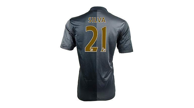 Nike Manchester City Silva Away Jersey 2013-2014