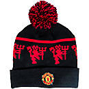 Nike Manchester United Beanie  Black with Red