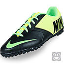 Nike Youth FC247 Bomba II Turf Soccer Shoes  Black with Electric Green