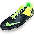 Nike FC247 Bomba II Turf Soccer Shoes  Black Volt and Green