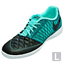 Nike Lunargato II Indoor Soccer Shoes - Black and Turquoise