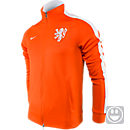 Nike Youth Netherlands Authentic B14 Jacket  Safety Orange with White